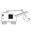 contour of a construction excavator vector image
