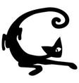 curve cat stencil vector image vector image
