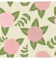 Cute vintage seamless pattern with roses vector image vector image
