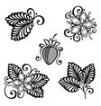 Decorative Strawberry Bush Set vector image vector image
