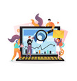 digital marketing concept for web banner vector image vector image