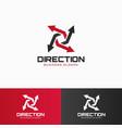 direction - arrow logo template vector image