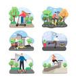 eco city transport set flat vector image