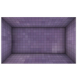 empty futuristic room with purple mosaic walls vector image vector image