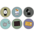 Everyday Carrybag Icon Set vector image vector image