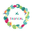 floral paradise tropic wreath vector image vector image