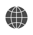 globe solid icon vector image