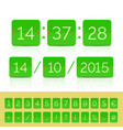 green countdown timer and scoreboard vector image vector image