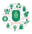 green eco concept vector image vector image
