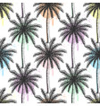 hand drawn palm trees seamless pattern vector image vector image