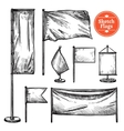 Hand Drawn Sketch Flags Set vector image vector image
