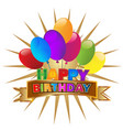 happy birthday party invitation icon vector image vector image