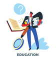 human need education and knowledge studying and vector image vector image