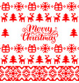 knitted seamless pattern with merry vector image