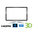 LED Television - Design vector image vector image