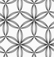 Monochrome slim gray striped six pedal flowers vector image vector image