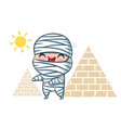 mummy in kawaii style vector image vector image