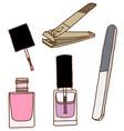 Nail care and polish vector image