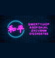 neon sign of chinese hieroglyph means peace in vector image vector image