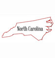 north carolina vector image vector image