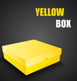 Package yellow box design vector image vector image