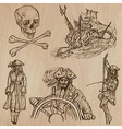 pirates - an hand drawn pack no10 vector image