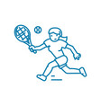 playing tennis linear icon concept playing tennis vector image