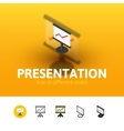 Presentation icon in different style vector image vector image