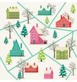 Rural winter landscape seamless pattern vector image vector image