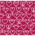 Seamless pattern made of rope hearts decorative kn vector image