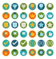 set of 36 flat gamification icons vector image vector image