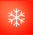 snowflake icon isolated on orange background vector image vector image