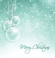 snowy christmas decorations 0510 vector image vector image