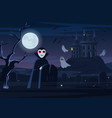 spooky vampire and ghosts vector image vector image