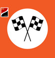 sports checkered flag vector image vector image