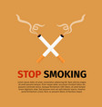 stop smoking world no tobacco day vector image