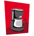 stylized picture a coffee maker vector image