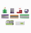 supermarket closeup furniture vector image vector image