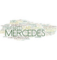 the latest mercedes car technology text vector image vector image