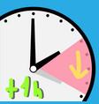 time change spring vector image