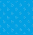 toy horse pattern seamless blue vector image