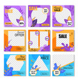 trendy promo kit for online instagram shop vector image