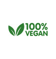 vegan bio ecology organic logo and icon label tag vector image vector image