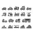 vehicle icon set vector image