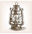 Vintage lantern sketch vector image vector image