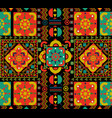 vintage seamless pattern tile retro floral art vector image vector image