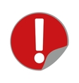 warning alert sign road sticker round vector image