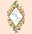 wedding vertical floral invitation invite card vector image vector image
