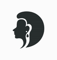 Woman Face Logo Design Template vector image