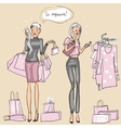 Women at shopping mall vector image vector image